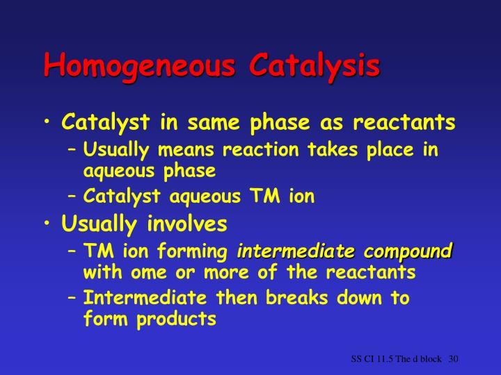 Homogeneous Catalysis