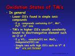 oxidation states of tm s3