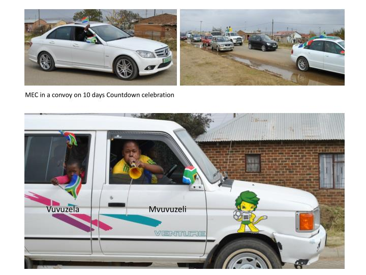 MEC in a convoy on 10 days Countdown celebration