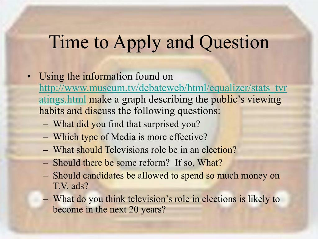 Time to Apply and Question