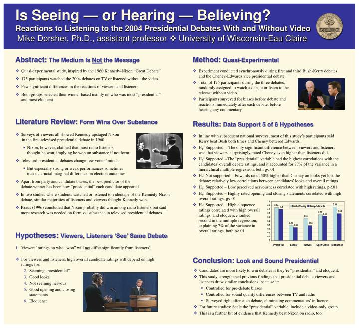 Is Seeing — or Hearing — Believing?