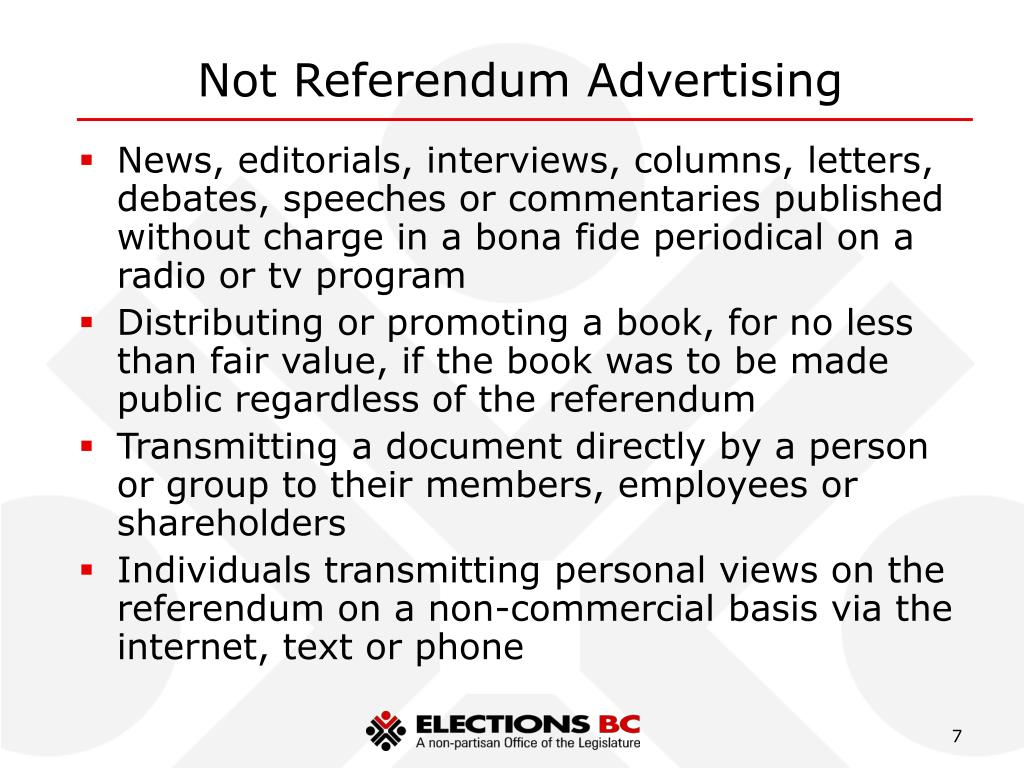 Not Referendum Advertising