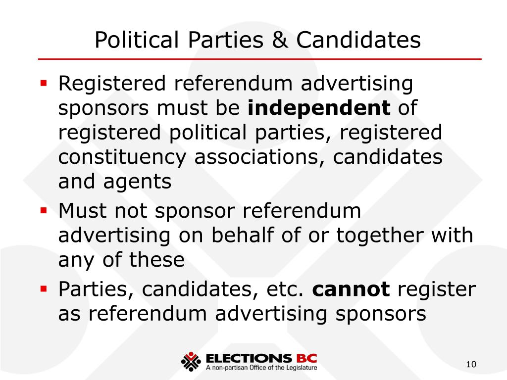 Political Parties & Candidates