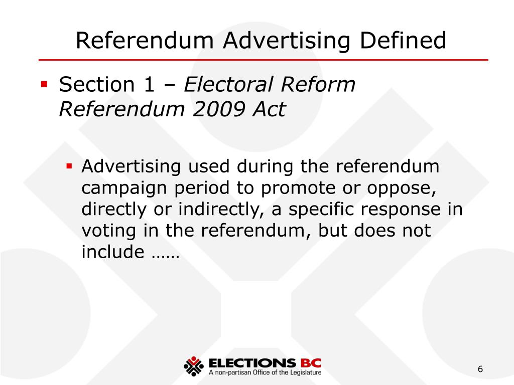 Referendum Advertising Defined