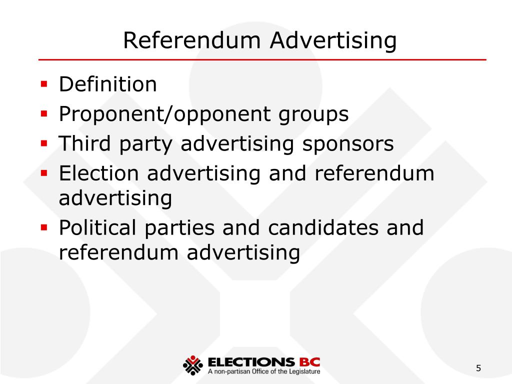 Referendum Advertising