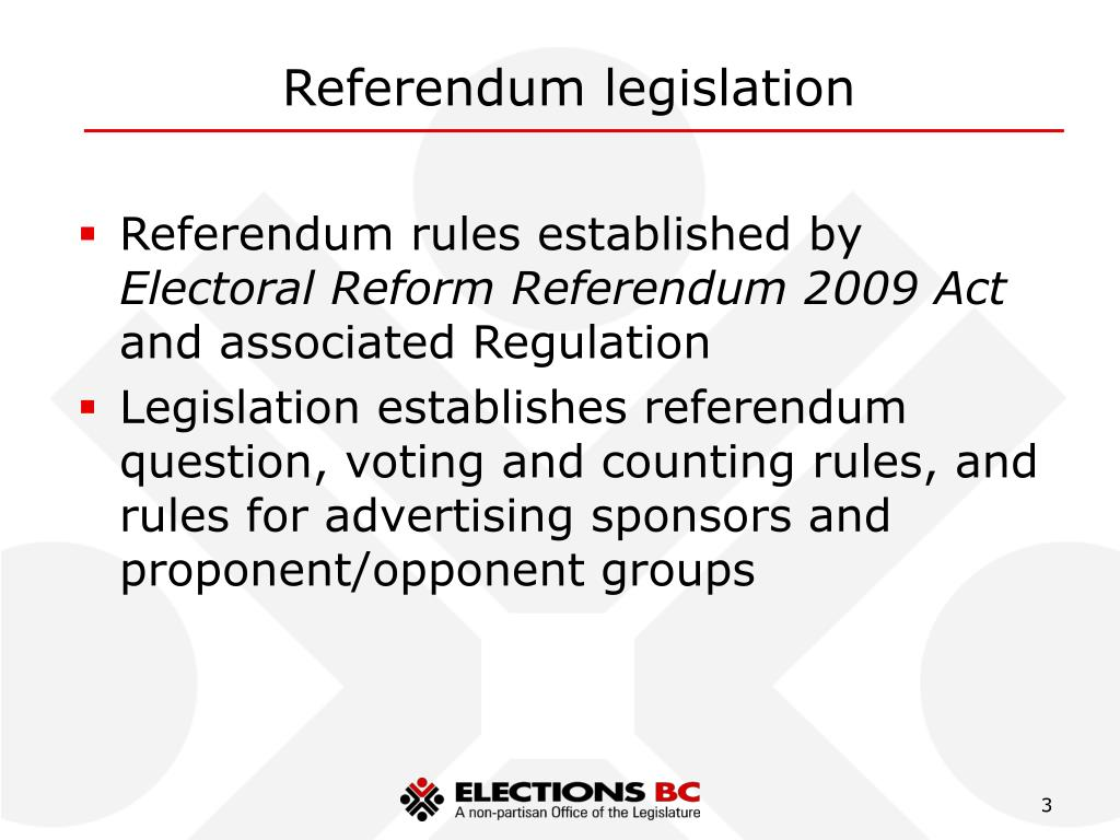 Referendum legislation