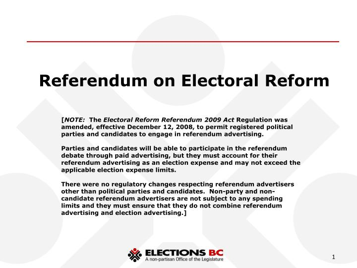 Referendum on Electoral Reform