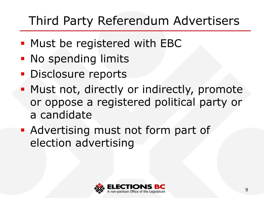 Third Party Referendum Advertisers