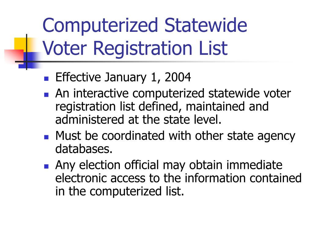 Computerized Statewide