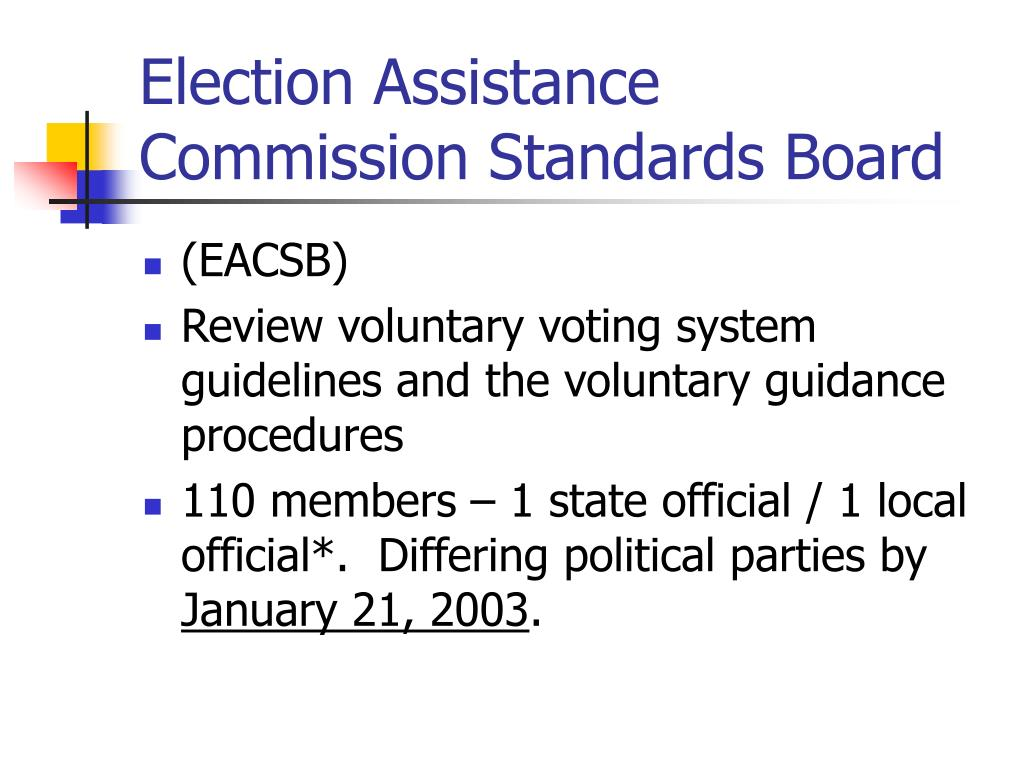 Election Assistance Commission Standards Board