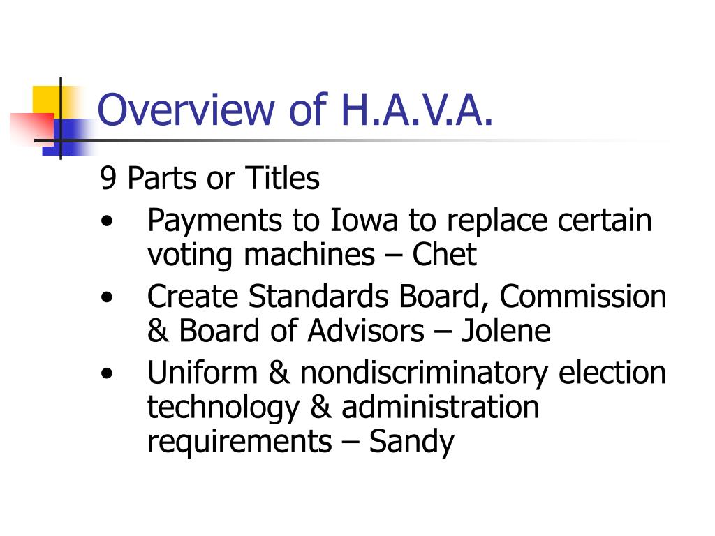 Overview of H.A.V.A.