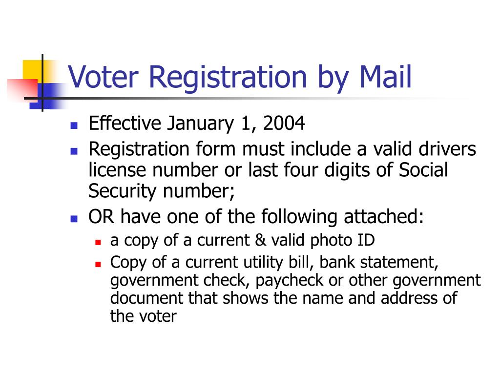 Voter Registration by Mail