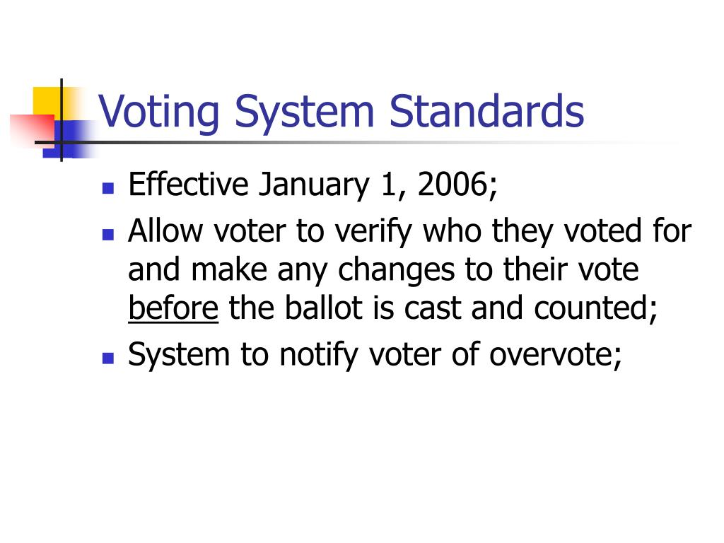 Voting System Standards