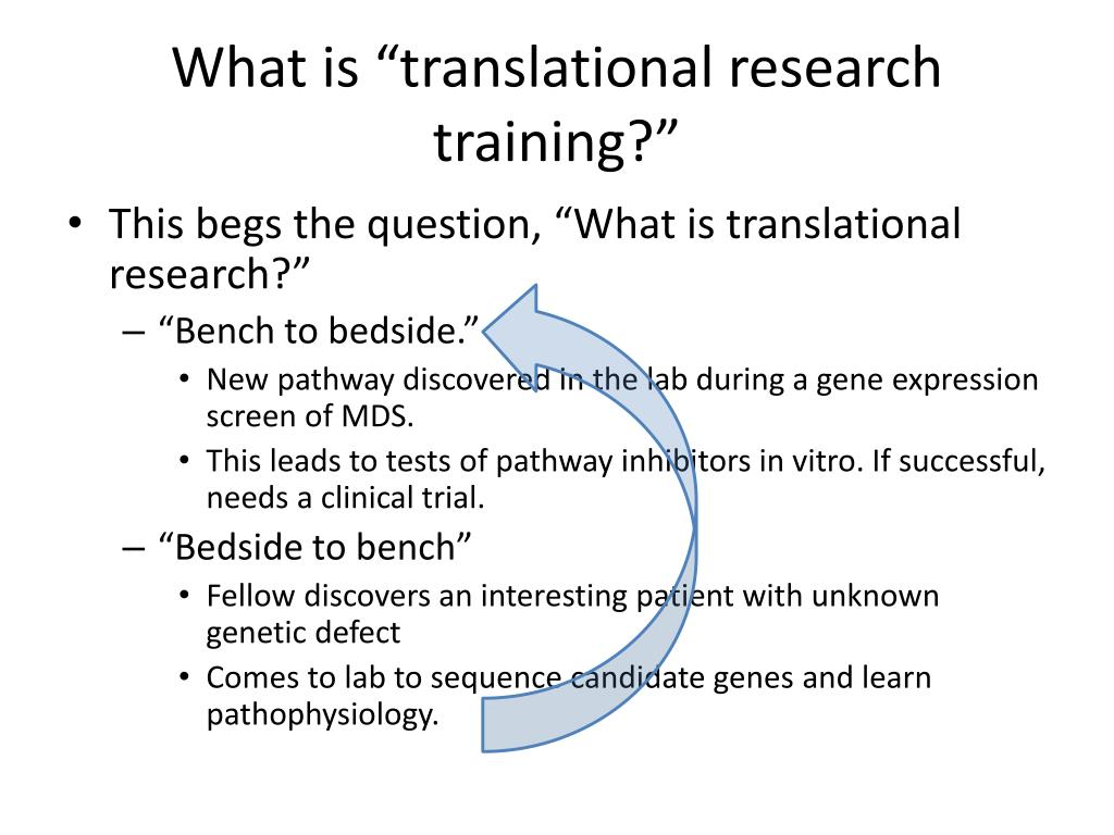 "What is ""translational research training?"""