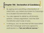 chapter 705 declaration of candidacy