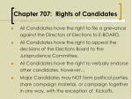 chapter 707 rights of candidates