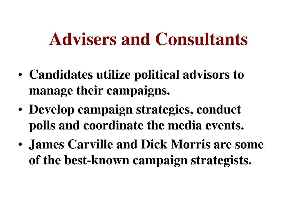 Advisers and Consultants