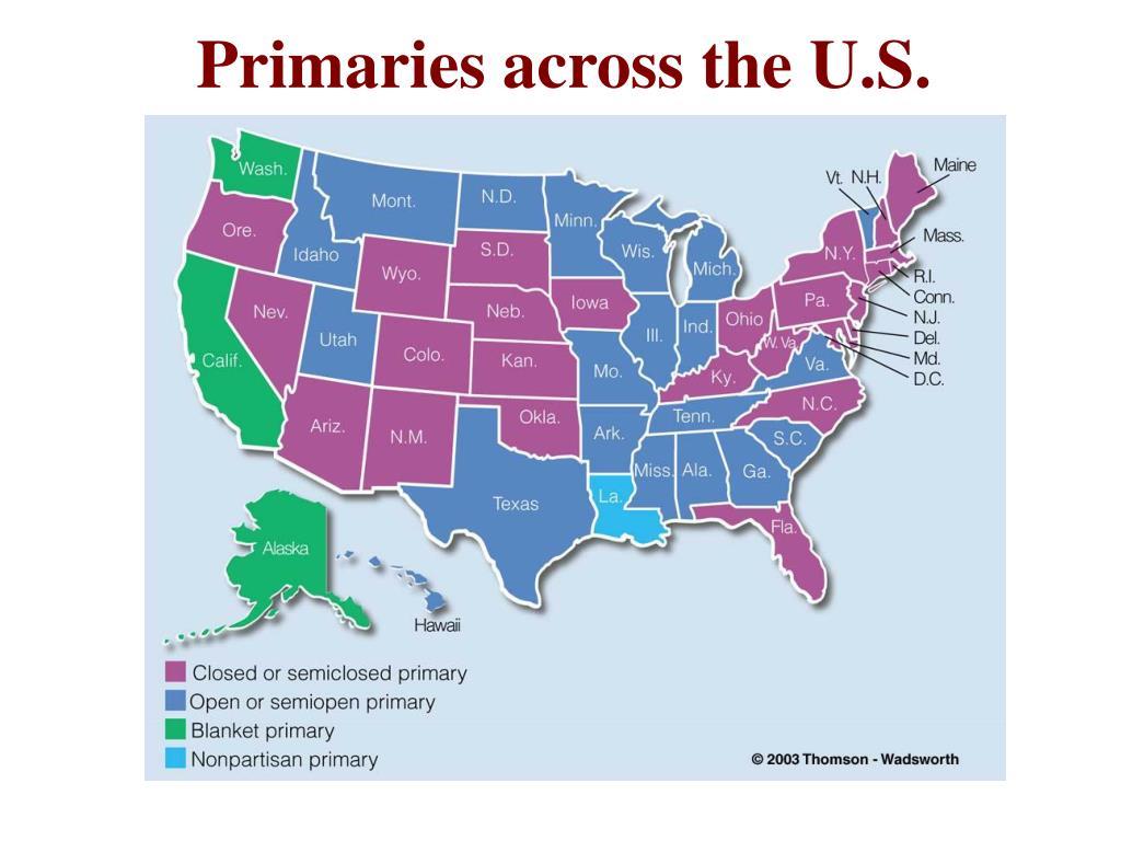 Primaries across the U.S.
