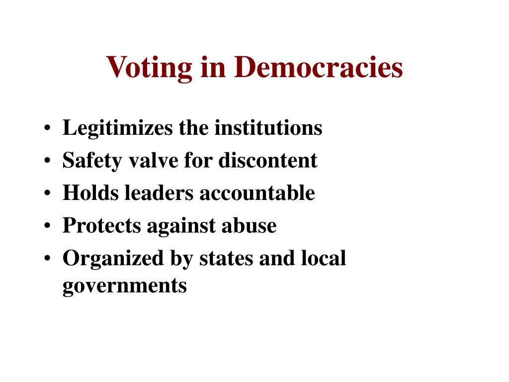 Voting in Democracies
