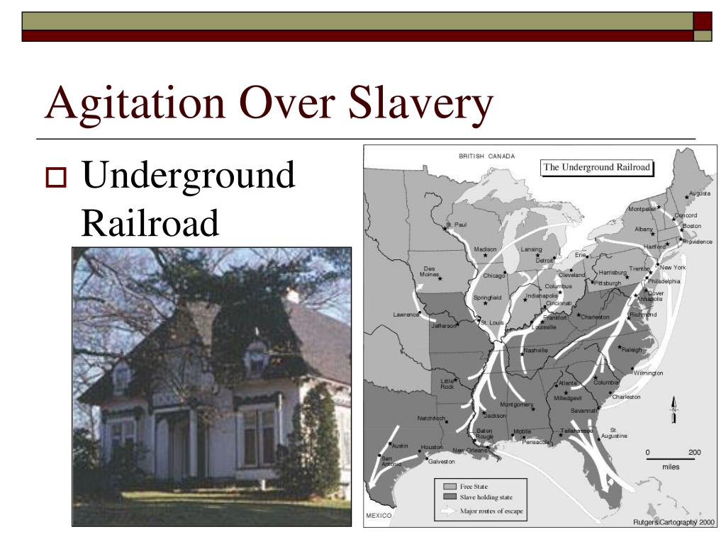Agitation Over Slavery