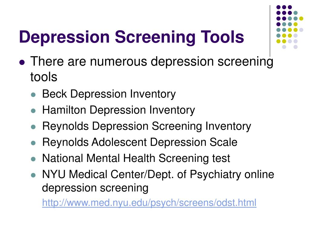 Depression Screening Tools