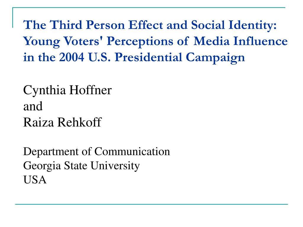 The Third Person Effect and Social Identity: