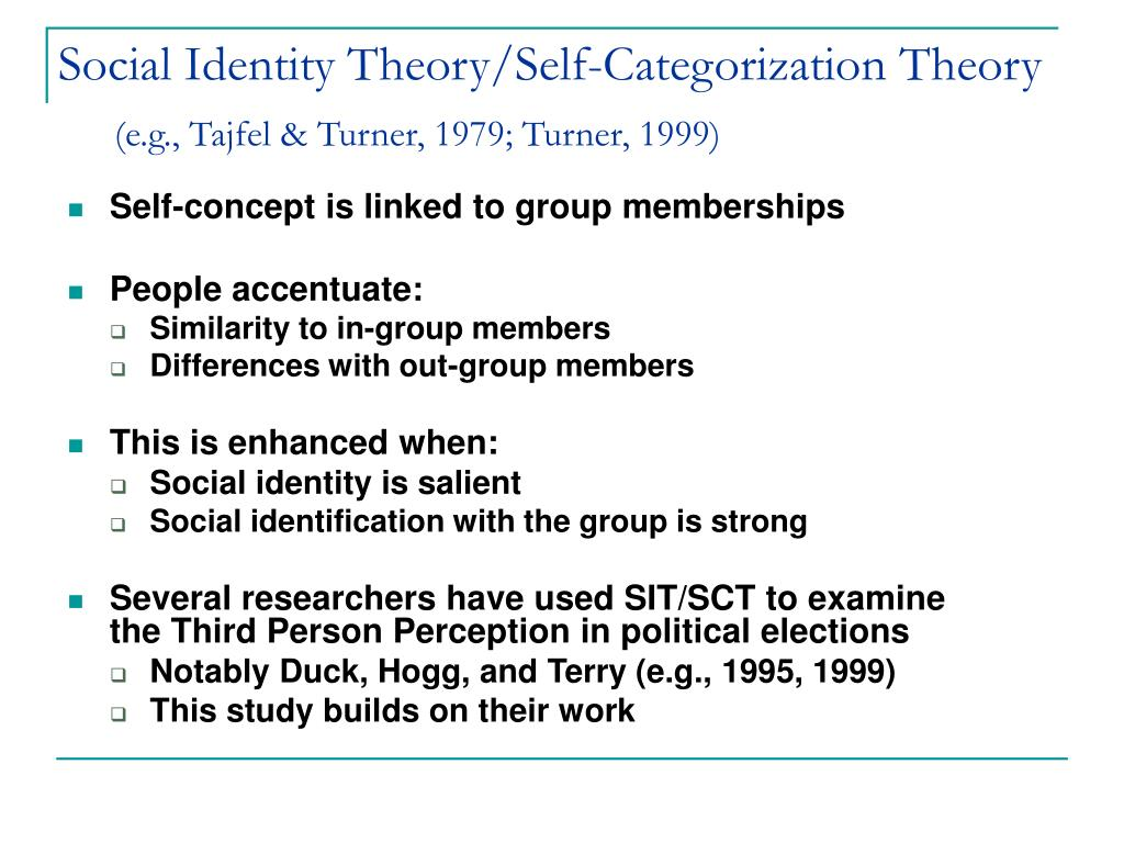 Social Identity Theory/Self-Categorization Theory