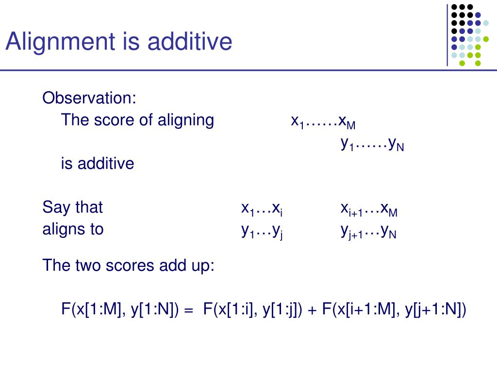 Alignment is additive