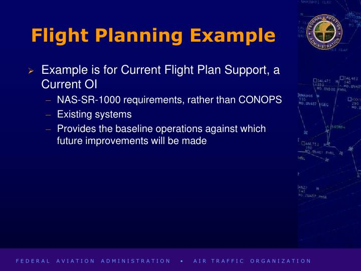 Flight Planning Example