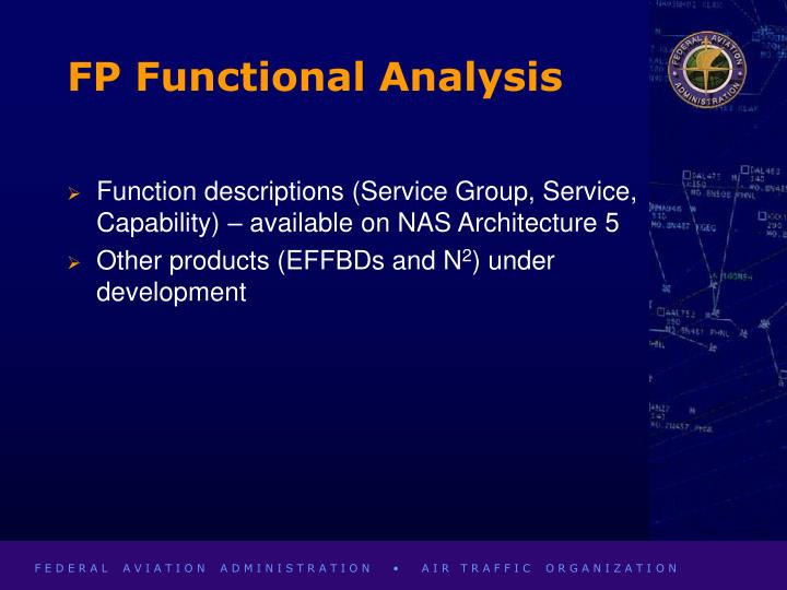 FP Functional Analysis
