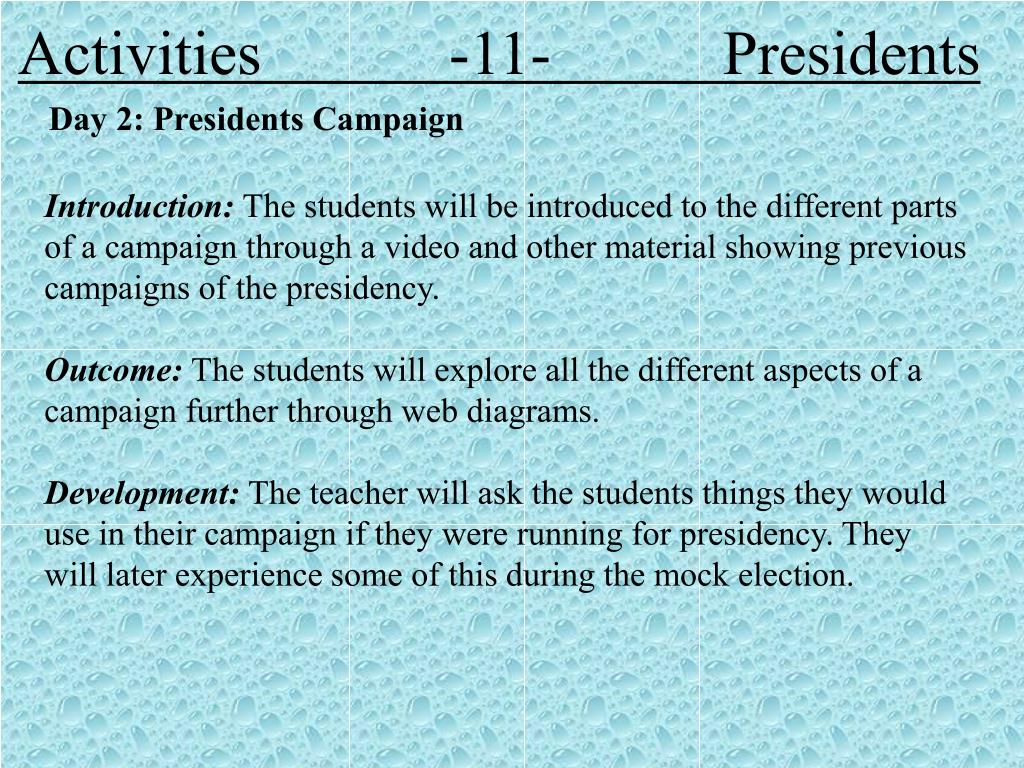 Activities            -11-           Presidents