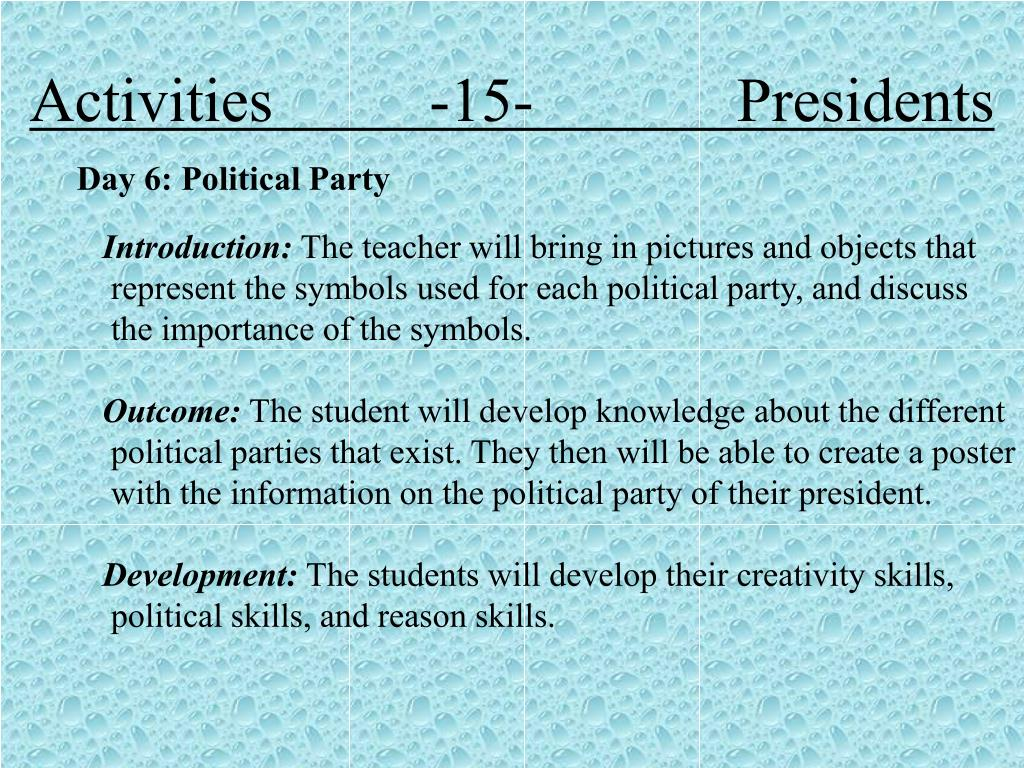 Activities          -15-             Presidents