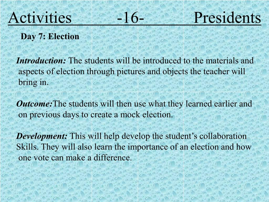 Activities           -16-            Presidents