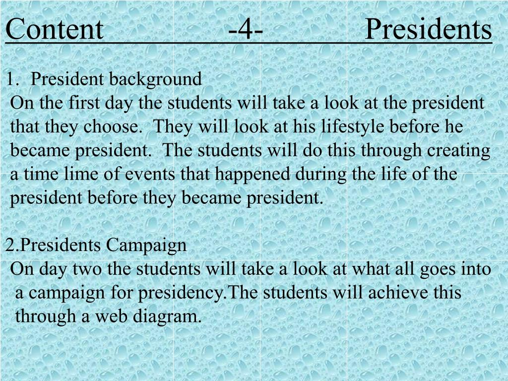 Content                -4-             Presidents