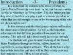 introduction 3 presidents