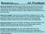 resources students 24 presidents