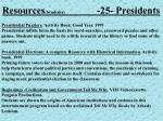 resources students 25 presidents
