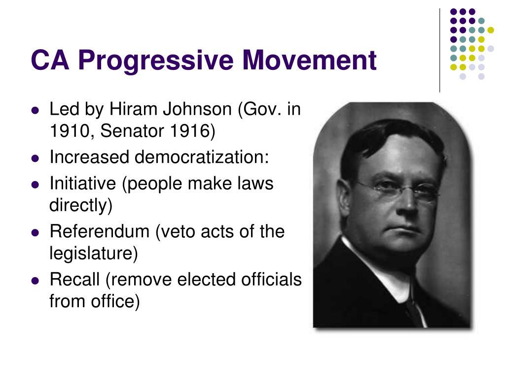 CA Progressive Movement
