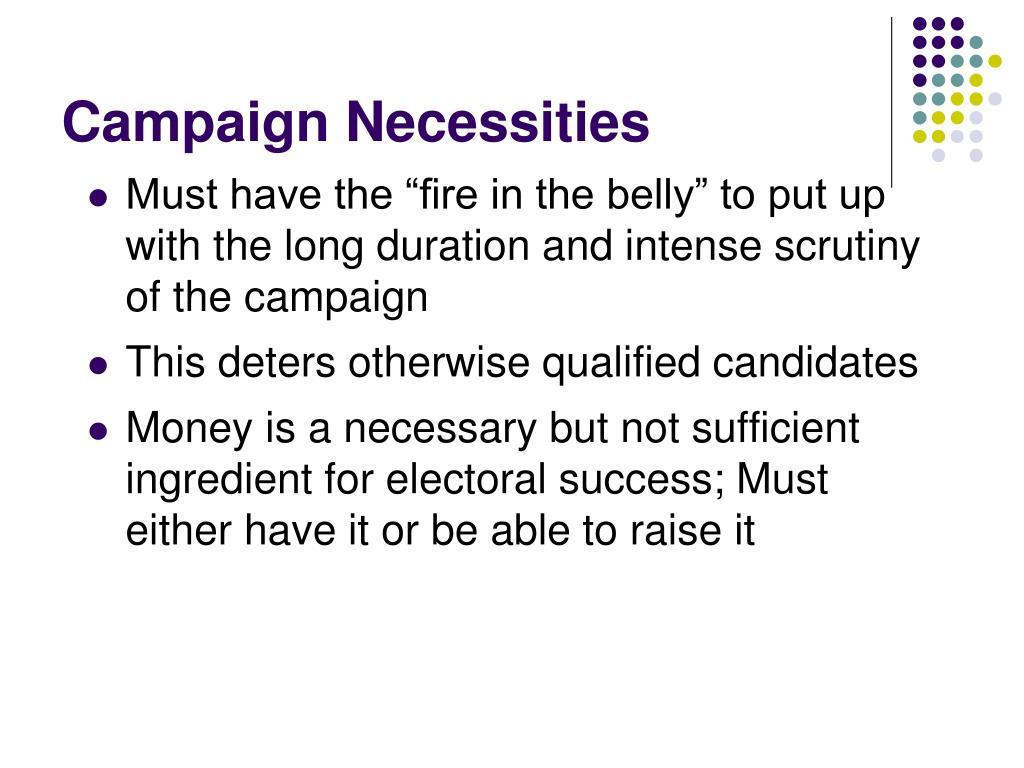 Campaign Necessities