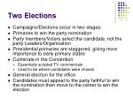 two elections