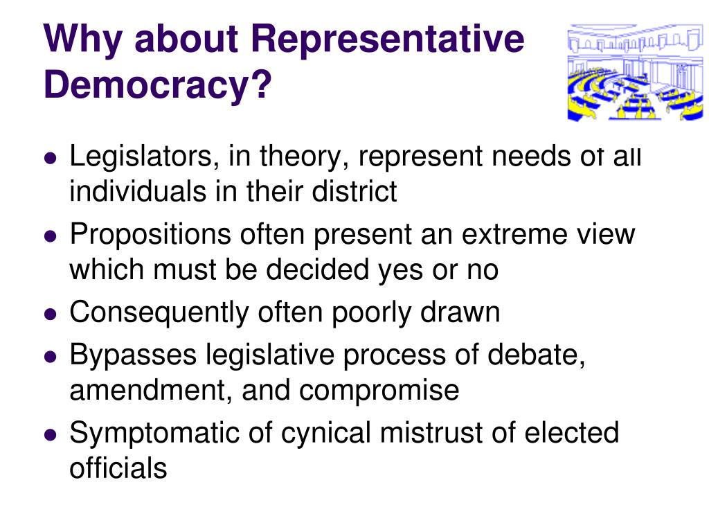 Why about Representative Democracy?