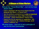 a glimpse at urban warfare