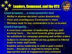 leaders command and the vtc