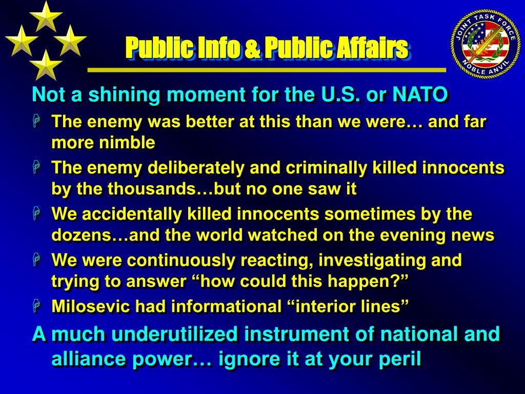 Public Info & Public Affairs