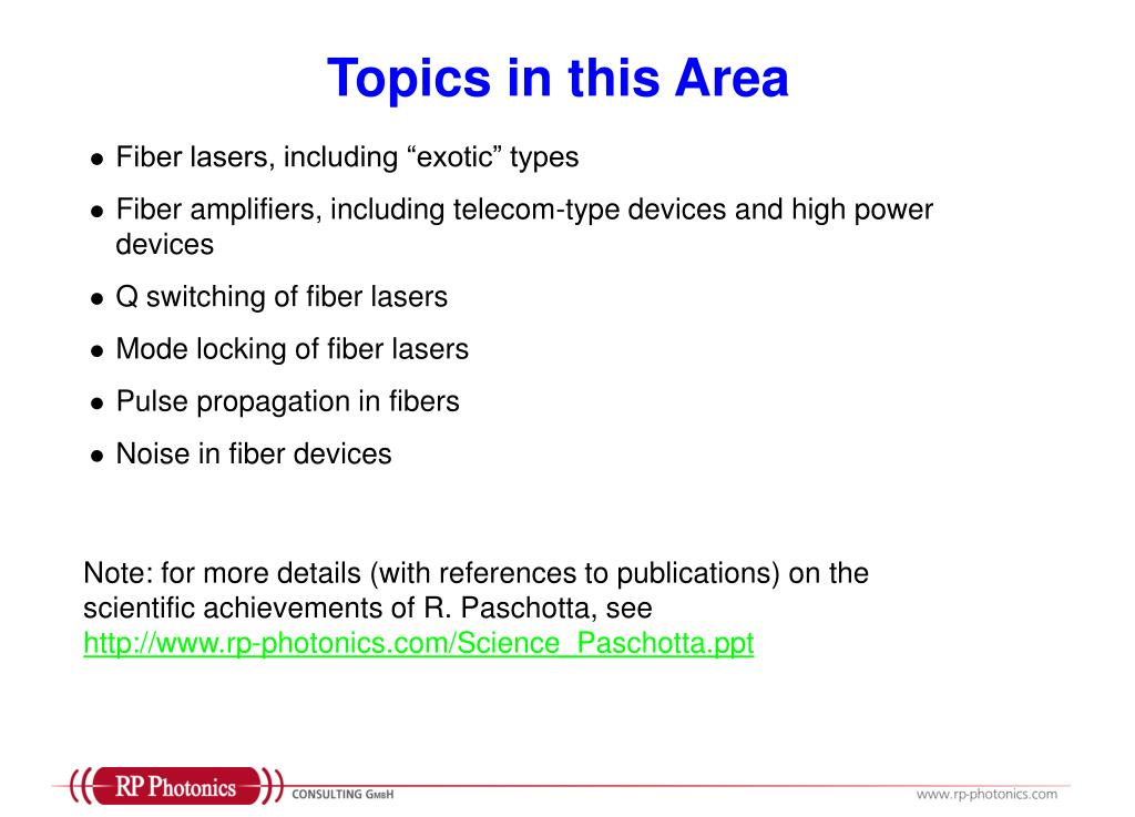 Topics in this Area