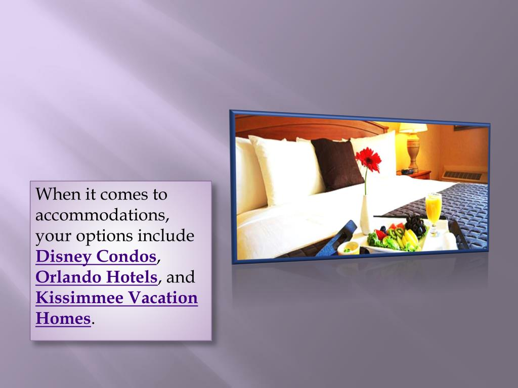 When it comes to accommodations, your options include