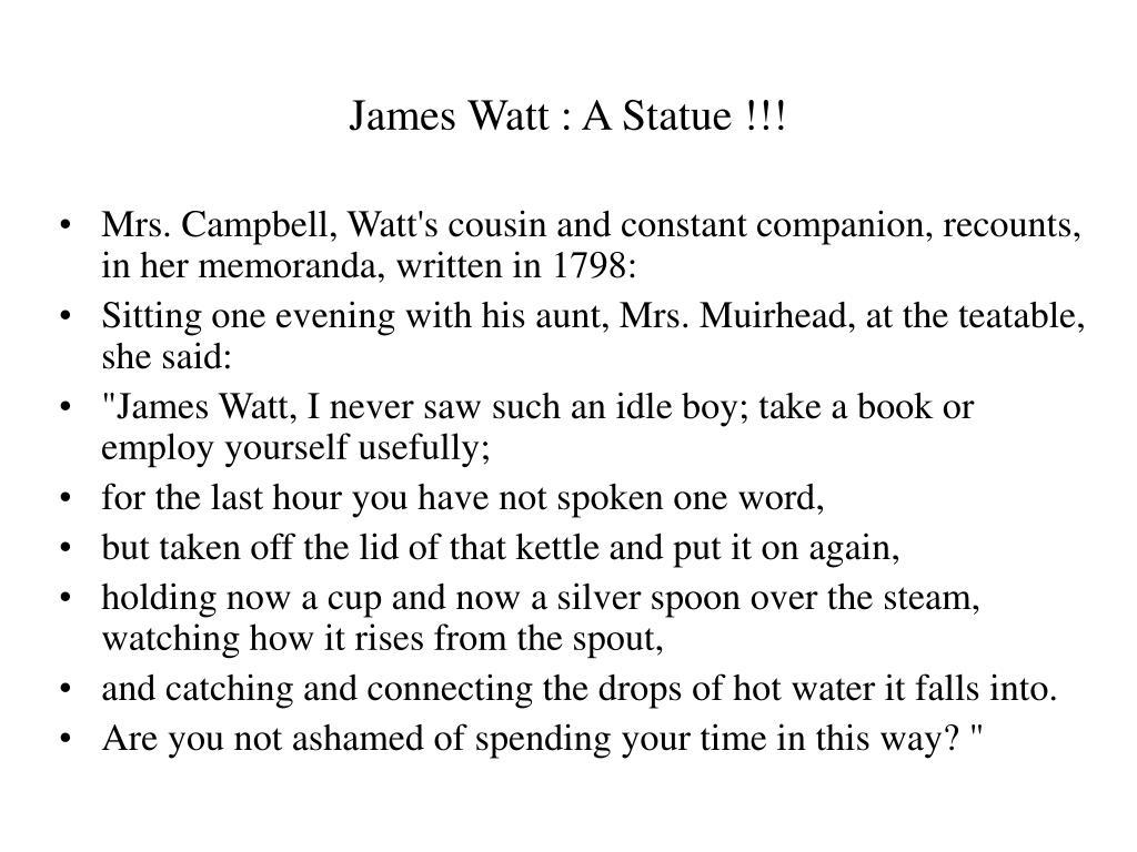 James Watt : A Statue !!!