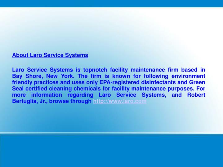About Laro Service Systems