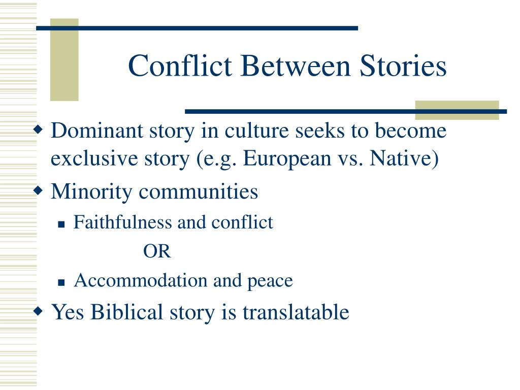 Conflict Between Stories