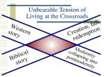 unbearable tension of living at the crossroads